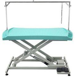 Stół z podnośnikiem elektrycznym, blat 130x61 cm z przegródkami na narzędzia, regulacja wys. 28x93cm marki Shernbao