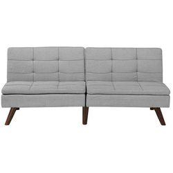 Rozkładana sofa tapicerowana jasnoszara RONNE, kolor szary