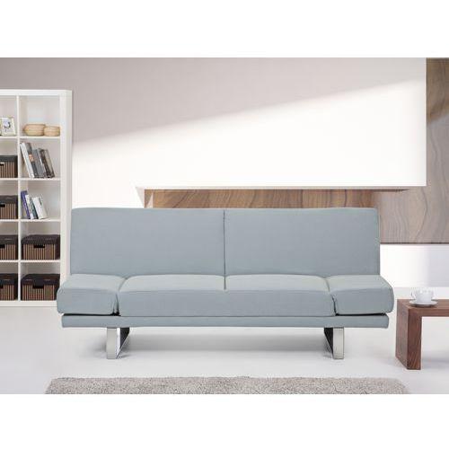 Rozkladana sofa ruchome podlokietniki - YORK jasny niebieski - sprawdź w Beliani