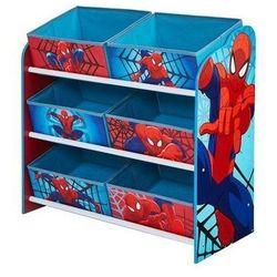 Półka z koszami na zabawki spiderman marki Worldsapart