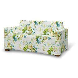 pokrowiec na sofę solsta, niebieskie kwiaty na białym tle, sofa solsta, mirella marki Dekoria