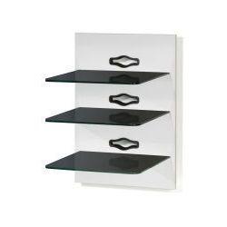VCM Panel Xeno - 3 - uchwyt Hifi do odtwarzacza DVD - bialy lakier / czarne szklo - produkt z kategorii- Uchwyty i ramiona do TV