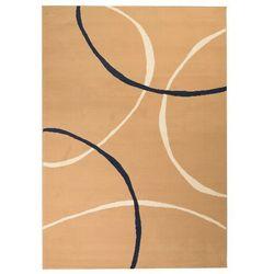 Nowoczesny dywan, wzór w koła, 80 x 150 cm, brązowy marki Vidaxl