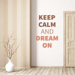 Wally - piękno dekoracji Szablon na ścianę keep calm and dream on 1946