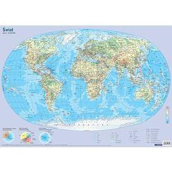 Demart Mapa świate fizyczna plansza edukacyjna na ścianę i biurko - książka (9788379123445)