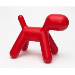 D2.design Siedzisko dziecięce pies inspirowane puppy - czerwone