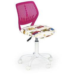 Halmar Fotel młodzieżowy obrotowy bali różowy