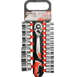 Zestaw kluczy nasadowych YATO YT-38681 1/2 cala (19 elementów)