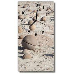Zegar Szklany Pionowy Widok Kamienie na plaży beżowy