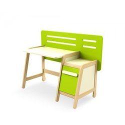 Biurko z kontenerkiem SIMPLE zielono-kremowe, Timoore - sprawdź w wybranym sklepie