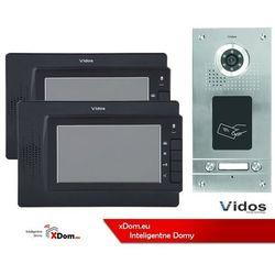 Vidos Zestaw dwurodzinny wideodomofonu z czytnikiem kart rfid s562a_m320b