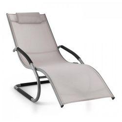 Blumfeldt sunwave leżak ogrodowy leżak relaksacyjny bujający aluminium szarobrązowy (4260414896613)