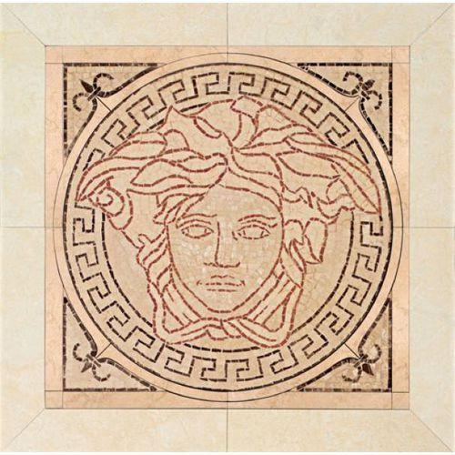 PALACE LIVING Rosoni Medusa in pietra Rosa 41x41 (P83) ze sklepu 7i9.pl Wszystko  Dla Domu
