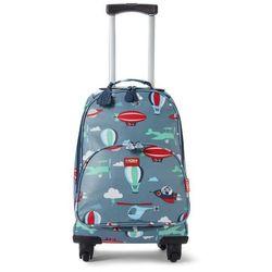 Penny Scallan Design, walizka na czterech kółkach, niebieska w małpki ze sklepu Smyk