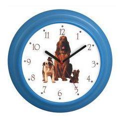 Zegar ścienny kolorowy pieski marki Atrix
