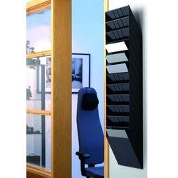 FLEXIBOXX A4 12 poziomych pojemników na dokumenty, kolor czarny DURABLE, 1709781060_d