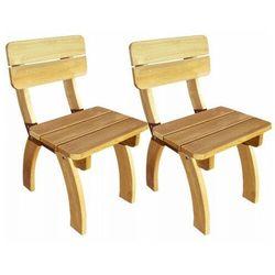 Elior Vidaxl krzesła ogrodowe 2 szt drewno sosnowe
