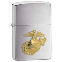 Zapalniczka ZIPPO Marines Emblem, Brushed Chrome (Z280MAR) - produkt z kategorii- Zapalniczki