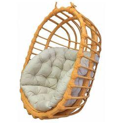 Pomarańczowy owalny fotel wiszący z wikliny - petro 3x marki Producent: elior