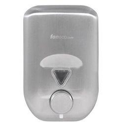 Dozownik do mydła w płynie 0,8 litra LAB Faneco stal szlachetna matowa (5901764290353)