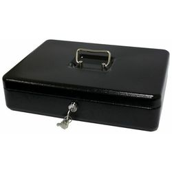 Kasetka na pieniądze 2153/5as_black, bardzo duża, czarna marki Metalplus