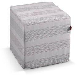 Dekoria pokrowiec na pufę kostke, różowo-szary, kostka 40x40x40 cm, rustica do -30%