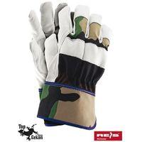 Rękawice robocze wzmacniane skórą licową RFORESTER rozmiar 10,5