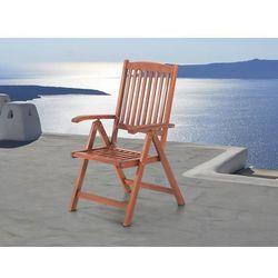 Beliani Drewniane krzesło ogrodowe - regulowane oparcie - toscana (7081458913541)
