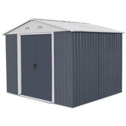 Hecht czechy Hecht 6x8 plus domek narzedziowy ogrodowy na narzędzia ciemnoszary wiata meble ogrodowe 169 x 258 cm - ewimax oficjalny dystrybutor - autoryzowany dealer hecht