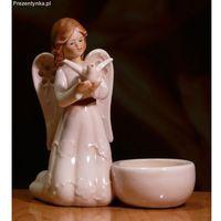 Aniołek z gołębiem na tealight