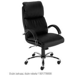 Fotel biurowy Nadir steel02 chrome z mechanizmem Tilt Nowy Styl, 805