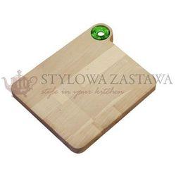Deska do krojenia średnia 28,5x23x2 cm woody zielony marki Omada