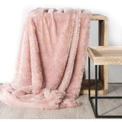 Koc narzuta na fotel TIFFANY 70x160 różowy