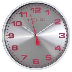 Zegar ścienny Dash srebrny, 3053wi