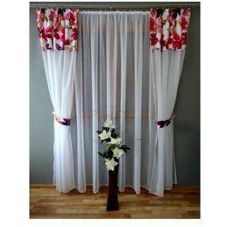 Komplet firan i zasłon akwarele z woalu 240x500 do sypialni salonu balkon marki Kasandra