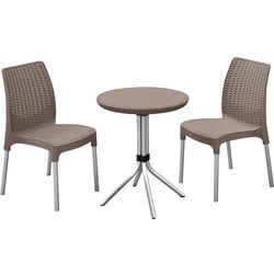 Allibert Zestaw mebli ogrodowych chelsea (dwa krzesła + stolik) - cappuccino + darmowy transport! + zamów z dostawą jutro! (7290106927537)