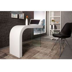 Interior Biurko onice 120 cm białe, kategoria: biurka