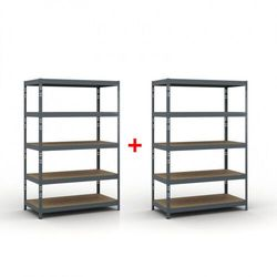 B2b partner Regał półkowy 1800 x 1200 x 600 mm, nośność 280 kg 1+1 gratis