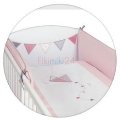 Ceba pościel bawełniana c-3 haft latawiec biało-różowy marki Ceba baby