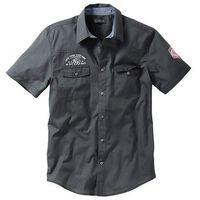 Koszula z krótkim rękawem Slim Fit bonprix antracytowy