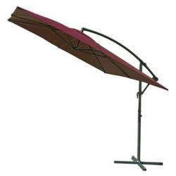 Parasol ogrodowy prostokątny na wysięgniku bordowy 270 x 270 cm