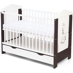 Skrzat łóżeczko ella 108 venga/biały nadruk żyrafka odbierz swój rabat tylko dzisiaj!
