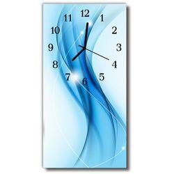 Zegar szklany pionowy sztuka wzór grafika niebieski marki Tulup.pl