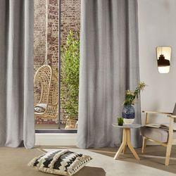 Stylowa zasłona Chenil, kolor jasnoszary, wykonana z poliestru, wymiary 260 x 140 cm, skandynawski styl, do nowoczesnych wnętrz