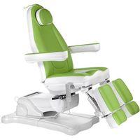 Elektryczny fotel kosmetyczny mazaro br-6672a zielony marki Beauty system