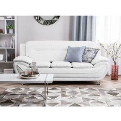 Sofa skóra ekologiczna trzyosobowa biała LEIRA