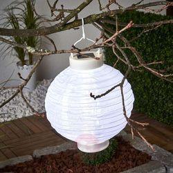 Solarny lampion LED Jerrit 20 cm, biały