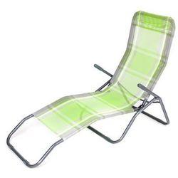 Happy Green Leżak plażowy składany, krata zielony z kategorii Leżaki ogrodowe