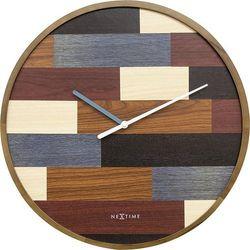 Zegar ścienny patch wood marki Nextime