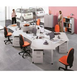 Unbekannt Contact - regał biurowy, 2 półki, z rolkami, imitacja drewna bukowego. z wysokie